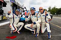 GS Race Winners, #46 Team TGM Mercedes-AMG, GS: Owen Trinkler, Hugh Plumb, with team owner Ted Giovanis