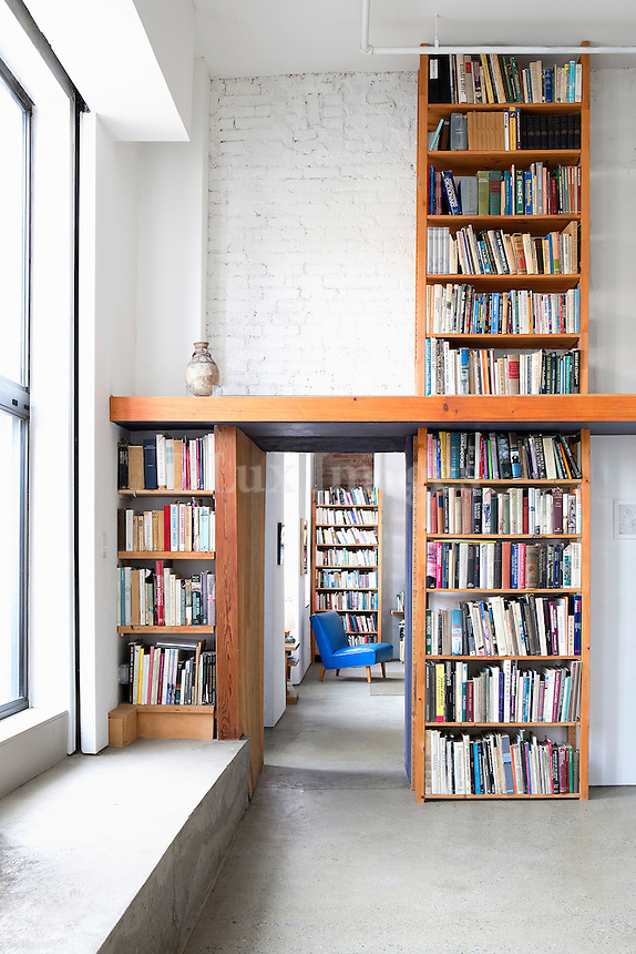 wooden wall bookcase
