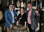 No Repro Fee.<br /> Brian Nation, Master Distiller at Midleton Distillery (left) with Carol Quinn, Archivist at Irish Distillers and Billy Leighton, Master Blender at Midleton Distillery, pictured in Jameson Distillery Bow Street's live Maturation House at the launch of Jameson Bow Street 18 Years Cask Strength. Jameson Bow Street 18 Years Cask Strength is the first cask strength Jameson to be available globally, which finishes its maturation in Dublin's only live Maturation House in the Jameson Distillery Bow Street. Pic. Robbie Reynolds
