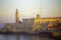 El Morro Castle guards the port of Havana  in Cuba.