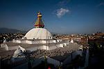 Boudhanath or Bodnath Stupa and Buddhist Temple in Kathmandu, Nepal.