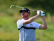 Potomac, MD - June 29, 2017: Jimmy Walker plays his second shot on the 14th hole during Round 1 of professional play at the Quicken Loans National Tournament at TPC Potomac at Avenel Farm in Potomac, MD, June 29, 2017.  (Photo by Don Baxter/Media Images International)