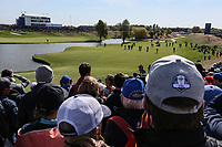 View of the 15th  during Saturday's Fourballs, at the Ryder Cup, Le Golf National, &Icirc;le-de-France, France. 29/09/2018.<br /> Picture David Lloyd / Golffile.ie<br /> <br /> All photo usage must carry mandatory copyright credit (&copy; Golffile | David Lloyd)
