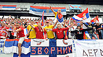FUDBAL, KLAGENFURT, 29. May. 2010. -  Navijaci Srbije. Prijateljska utkamica izmedju Srbije i Novog Zelanda odigrana u okviru priprema za Svetsko prvenstvo u Juznoj Africi. Foto: Nenad Negovanovic