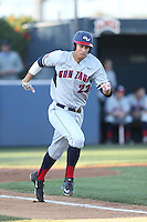 Taylor Jones (22) of the Gonzaga Bulldogs runs the bases during a game against the Loyola Marymount Lions at Page Stadium on March 27, 2015 in Los Angeles, California. Loyola Marymount defeated Gonzaga 6-5.(Larry Goren/Four Seam Images)