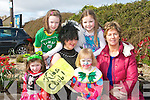 ST PATRICK'S DAY: Having great fun at the Glenbeigh St Patrick's Day parade on Saturday front l-r: Naoise Burke, Bridgetann O'Connor, Sarah O'Connor and Niamh Burke. Back l-r: Orla Burke and Cacey O'Connor...