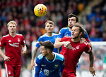 St Johnstone v Aberdeen&hellip;15.09.18&hellip;   McDiarmid Park     SPFL<br />Joe Shaughnessy wins this battle with Stevie May<br />Picture by Graeme Hart. <br />Copyright Perthshire Picture Agency<br />Tel: 01738 623350  Mobile: 07990 594431