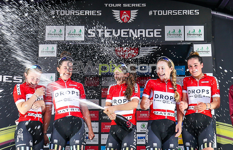 Picture by Alex Whitehead/SWpix.com - 29/05/2017 - Cycling - Tour Series Round 10, Stevenage - Matrix Fitness Grand Prix Series - Drops win the team competition.