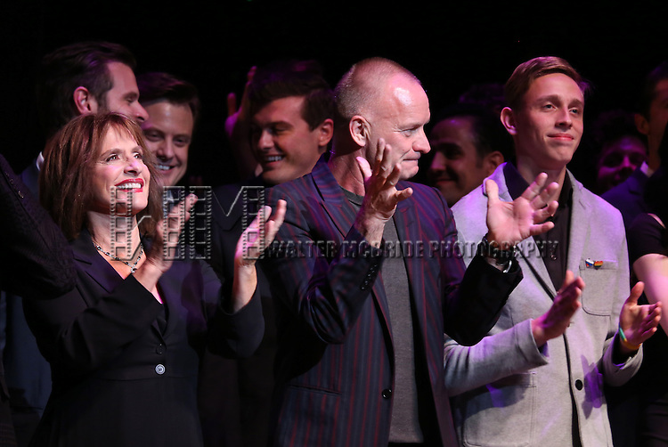 Patti LuPone, Sting and Vlad performing at 'Uprising Of Love: A Benefit Concert For Global Equality' at the Gershwin Theatre on September 15, 2014 in New York City.