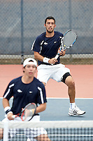 SAN ANTONIO, TX - FEBRUARY 15, 2009: The University of Nebraska Cornhuskers vs. The University of Texas at San Antonio Roadrunners Men's Tennis at the UTSA Tennis Center. (Photo by Jeff Huehn)8