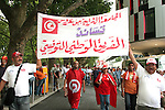 19 June 2006: Tunisia fans head to the stadium. Spain played Tunisia at the Gottlieb-Daimler Stadion in Stuttgart, Germany in match 31, a Group H first round game, of the 2006 FIFA World Cup.