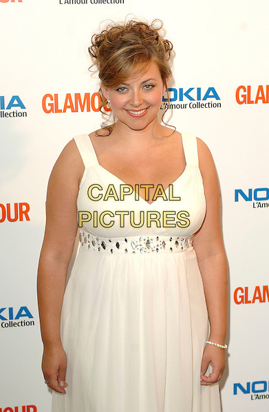 CHARLOTTE CHURCH.Attending the 4th Annual Glamour Women Of The Year Awards 2007, Berkley Square Gardens, London, England,.June 5th 2007..half length pregnant long white maxi dress.CAP/ BEL.©Tom Belcher/Capital Pictures.