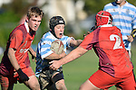 NELSON, NEW ZEALAND - JUNE 11: Stoke U14 v Nelson College U14 Argentina, Greenmeadows, June 11 2016, Nelson, New Zealand. (Photo by: Barry Whitnall Shuttersport Limited)