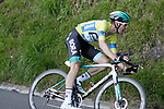 Race leader Max Schachmann (GER) Bora-Hansgrohe near the end of Stage 5 of the Tour of the Basque Country 2019 running 149.8km from Arrigorriaga to Arrate, Spain. 12th April 2019.<br /> Picture: Colin Flockton | Cyclefile<br /> <br /> <br /> All photos usage must carry mandatory copyright credit (© Cyclefile | Colin Flockton)