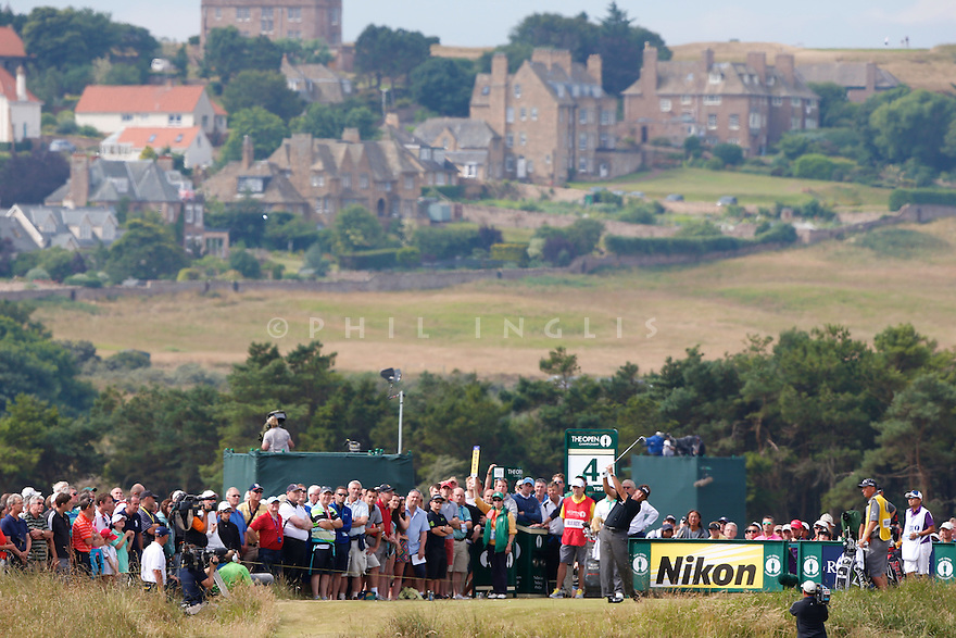 Phil Mickelson (USA) in action during the first round The 142nd Open Championship played at Muirfield, Gullane, East Lothian, Scotland. 18 - 22 July 2013 (Picture Credit / Phil Inglis)