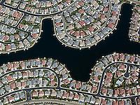 aerial photograph residential development Sacramento, California