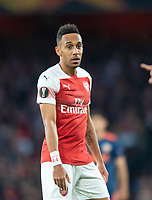 Arsenal's Pierre - Emerick Aubameyang during the UEFA Europa League Semi-Final 1st leg match between Arsenal and Valencia at the Emirates Stadium, London, England on 2 May 2019. Photo by Andrew Aleksiejczuk / PRiME Media Images.
