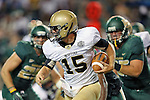 Wofford Terriers quarterback Michael Weimer (15) in action during the game between the Wofford Terriers and the Baylor Bears at the Floyd Casey Stadium in Waco, Texas. Baylor defeats Woffard 69 to 3.
