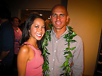 Haleiwa Hawaii, (Monday December 6, 2010) .Monday, Kalani Miller (USA) and Kelly Slater (USA).  40th annual SURFER Poll Awards were held tonight at Turtle Bay Resort on Oahu's North Shore..Sal Masekela (USA)  returned to serve as the Master of Ceremonies for the event with charismatic Hawaiian surf star Fred Patacchia as co-host .This year's SURFER Poll Awards were held in honor of recently lost legend, three-time World Champion Andy Irons. While acknowledging all of the surfers lost this year, the event  put a heavy focus on Andy and the legacy he leaves behind in and out of the water. Another focal point of this year's show was  Kelly Slater's 10th world title win. Touted as the world's most dominant athlete, Kelly's accomplishments have catapulted the sport of surfing and garnered the world's attention. Kelly was award the male Surfer of the Year award with Stephanie Gilmore (AUS) taking out the Female Surfer of the Year..Photo: joliphotos.com