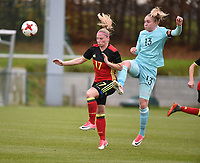 20171123 - TUBIZE , BELGIUM : Belgian Jana Coryn (L) pictured during a friendly game between the women teams of the Belgian Red Flames and Russia at complex Euro 2000 in Tubize , Thursday  23 October 2017 ,  PHOTO Dirk Vuylsteke | Sportpix.Be