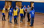 TORRINGTON,  CT-031919JS02- Torrington Middle School's unified basketball team took on Avon Middle School Tuesday at Torrington Middle School. It was the first home game for Torrington. <br /> Jim Shannon Republican American