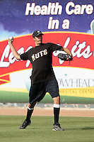 May 28 2009: Josh Sullivan of the Modesto Nuts before game against the Inland Empire 66'ers at Arrowhead Credit Union Park in San Bernardino,CA.  Photo by Larry Goren/Four Seam Images