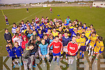 Some of the 400 children from the Kerry National Schools who took part in the FAI run National Schools 5 a-side blitz in St Brendans park on Thursday last.