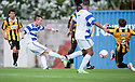 Morton's Archie Campbell scores their sixth goal.