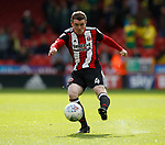 John Fleck of Sheffield Utd takes shot during the Championship match at Bramall Lane Stadium, Sheffield. Picture date 16th September 2017. Picture credit should read: Simon Bellis/Sportimage