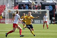 Sandy, UT - Saturday April 14, 2018: Gunnhildur Jonsdottir during a regular season National Women's Soccer League (NWSL) match between the Utah Royals FC and the Chicago Red Stars at Rio Tinto Stadium.