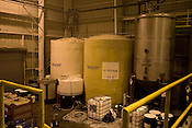 November 3, 2008. Pittsboro, NC..Piedmont Biofuel's industrial production location.. The storage tanks in the fuel depot.
