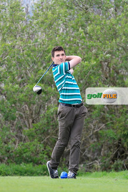 Eoin Cantwell (Kilkenny) on the 15th tee during Day 1 of The Munster Youths' Amateur Open Championship in Dungarvan Golf Club on Wednesday 23nd April 2014.<br /> Picture:  Thos Caffrey / www.golffile.ie