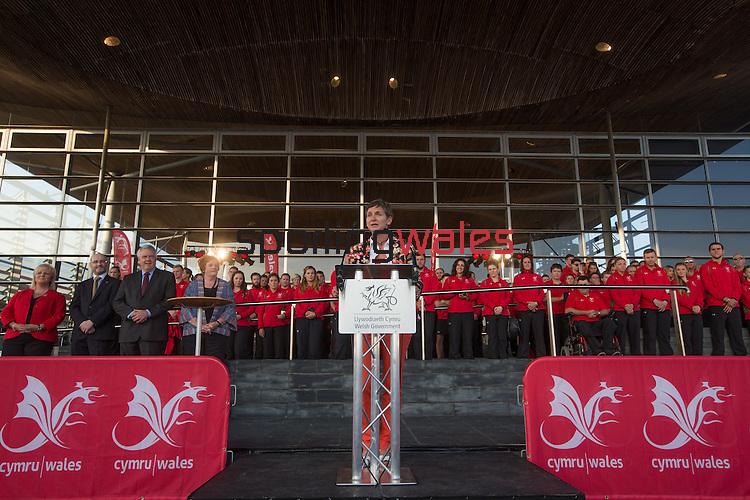 Glasgow 2014 Comonwealth Games<br /> Team Wales reception<br /> Laura McAllister<br /> Senedd<br /> 10.09.14<br /> &copy;Steve Pope-SPORTINGWALES