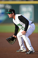 Dayton Dragons first baseman James Vasquez (25) during a game against the South Bend Cubs on May 11, 2016 at Fifth Third Field in Dayton, Ohio.  South Bend defeated Dayton 2-0.  (Mike Janes/Four Seam Images)