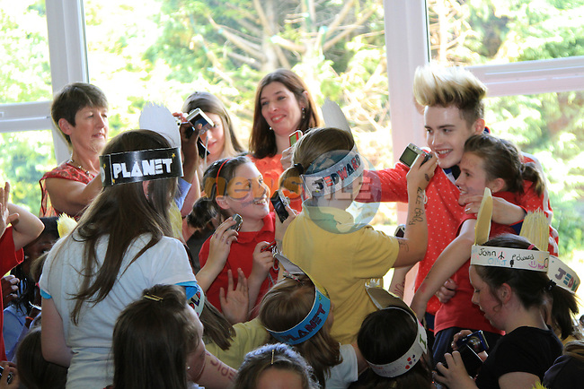 Presentation Primary School in Drogheda receive a visit from Jedward as the prize for collecting the most used mobile phones per student for the Jack and Jill Foundation. ..(Photo credit should read Jenny Matthews www.newsfile.ie)....This Picture has been sent you under the conditions enclosed by:.Newsfile Ltd..The Studio,.Millmount Abbey,.Drogheda,.Co Meath..Ireland..Tel: +353(0)41-9871240.Fax: +353(0)41-9871260.GSM: +353(0)86-2500958.email: pictures@newsfile.ie.www.newsfile.ie.Presentation Primary School in Drogheda receive a visit from Jedward as the prize for collecting the most used mobile phones per student for the Jack and Jill Foundation. ..(Photo credit should read Jenny Matthews www.newsfile.ie)....This Picture has been sent you under the conditions enclosed by:.Newsfile Ltd..The Studio,.Millmount Abbey,.Drogheda,.Co Meath..Ireland..Tel: +353(0)41-9871240.Fax: +353(0)41-9871260.GSM: +353(0)86-2500958.email: pictures@newsfile.ie.www.newsfile.ie.
