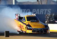 Feb 3, 2016; Chandler, AZ, USA; NHRA funny car driver Del Worsham during pre season testing at Wild Horse Pass Motorsports Park. Mandatory Credit: Mark J. Rebilas-USA TODAY Sports