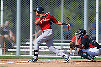 Boston Red Sox Stanley Espinal (15) during an instructional league game against the Minnesota Twins on September 26, 2015 at CenturyLink Sports Complex in Fort Myers, Florida.  (Mike Janes/Four Seam Images)