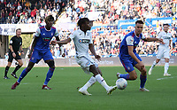 Swansea City's Joel Asoro thas a shot at goal<br /> <br /> Photographer Ian Cook - CameraSport<br /> <br /> The EFL Sky Bet Championship - Swansea City v Ipswich Town - Saturday 6th October 2018 - Liberty Stadium - Swansea<br /> <br /> World Copyright &copy; 2018 CameraSport. All rights reserved. 43 Linden Ave. Countesthorpe. Leicester. England. LE8 5PG - Tel: +44 (0) 116 277 4147 - admin@camerasport.com - www.camerasport.com