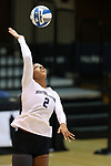 DURHAM, NC - SEPTEMBER 01: Northwestern's Symone Abbott. The Northwestern University Wildcats played the University of South Carolina Gamecocks on September 1, 2017 at Cameron Indoor Stadium in Durham, NC in a Division I women's college volleyball match. Northwestern won 3-1 (13-25, 25-18, 25-18, 25-19).