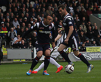 Benjamin Gordon takes control in the St Mirren v Ross County Scottish Professional Football League Premiership match played at St Mirren Park, Paisley on 3.5.14.