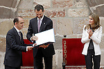 Princes Felipe and Letizia of Spain present the award 'Principe de Viana' for the spanish philosopher Daniel Innerarity Grau. June 06,2013. (ALTERPHOTOS/Acero)