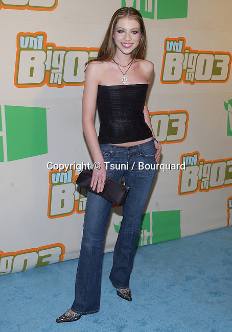 "Michelle Trachtenberg arriving at the ""  VH-1 Big in 03  "" at the Universal Amphitheatre in Los Angeles. November 20, 2003."
