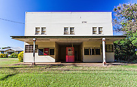 Old movie theater building in Hawi, Big Island.