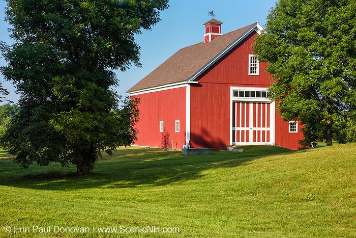 Barn on the grounds of the Morrison House Museum in Londonderry, New Hampshire USA which is part of scenic New England