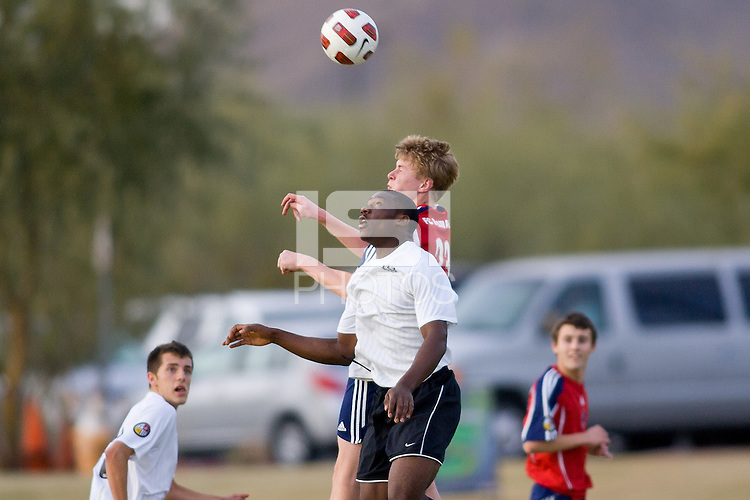 2010 US Soccer Development Academy Winter Showcase U15/16 South Central Premier vs FC Milwaukee at Reach 11 Soccer Complex in Phoenix, Arizona in December of  2010.
