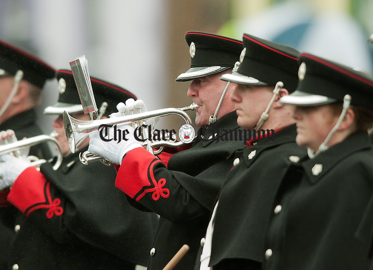 The Last Post is played during the National Famine Memorial Day Commemoration ceremony at Kilrush. Photograph by John Kelly