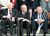 "Washington, DC - August 29, 2009 -- United States Senator Robert Byrd (Democrat of West Virginia), former U.S. Senator Dirk Kempthorne (Republican of Idaho), and U.S. Representative John Dingell await the arrival of the body of former U.S. Senator Edward M. ""Ted"" Kennedy (Democrat of Massachusetts) at the U.S. Capitol on Saturday, August 29, 2009..Credit: Ron Sachs / CNP.(RESTRICTION: NO New York or New Jersey Newspapers or newspapers within a 75 mile radius of New York City)"