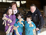 The Likeman family who visited the new born lambs at Newgrange Farm. Photo:Colin Bell/pressphotos.ie