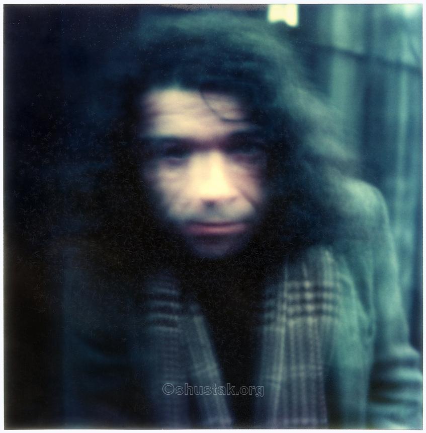 Tony Fomison, artist (1939-1990) SX-70 photograph c.1976.