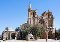 CYPRUS, North cyprus (turkish), Ammochostos/Famagusta (Gazimagusa): Lala Mustafa Pasa-Mosque - originally Santa Claus Cathedral<br />